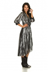IRO | Skirt with lurex stripes Dori | metallic black  | Picture 3