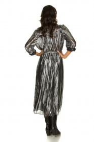 IRO | Skirt with lurex stripes Dori | metallic black  | Picture 4