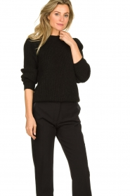 IRO |  Knitted sweater with sleeve details Hobson | black  | Picture 3
