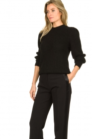 IRO |  Knitted sweater with sleeve details Hobson | black  | Picture 4