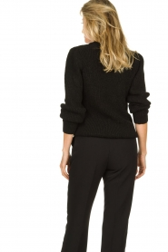 IRO |  Knitted sweater with sleeve details Hobson | black  | Picture 5