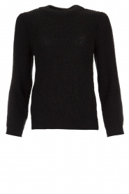 IRO |  Knitted sweater with sleeve details Hobson | black  | Picture 1