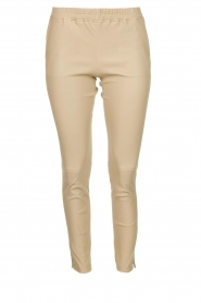 Leather pants Chatou | natural