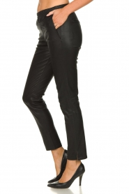 Arma |  Leather stretch leggings Chatou | black  | Picture 4