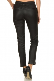 Arma |  Leather stretch leggings Chatou | black  | Picture 5