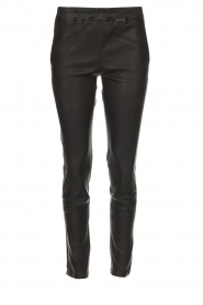 Arma |  Leather stretch leggings Chatou | black  | Picture 1
