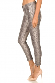 Arma |  Leather pants with snake print Cadiz | animal print  | Picture 4