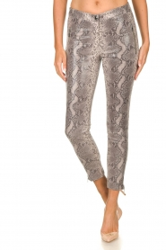 Arma |  Leather pants with snake print Cadiz | animal print  | Picture 3