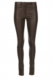 Arma |  Leather stretch pants Brandice | brown  | Picture 1