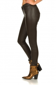 Arma |  Leather stretch pants Brandice | brown  | Picture 4