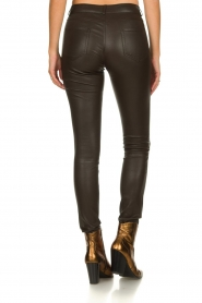 Arma |  Leather stretch pants Brandice | brown  | Picture 5