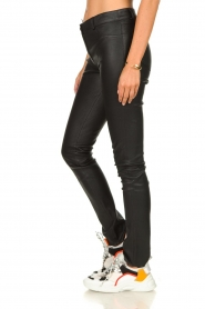 Arma |  Leather stretch pants Brandice | black  | Picture 4