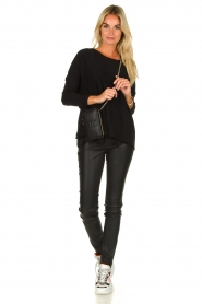 Arma |  Leather stretch pants Brandice | black  | Picture 3