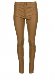 Arma |  Leather stretch pants | brown  | Picture 1