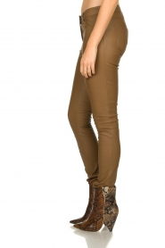 Arma |  Leather stretch pants | brown  | Picture 4
