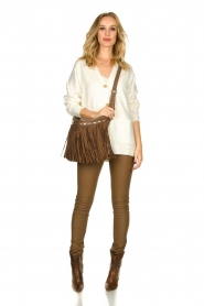 Arma |  Leather stretch pants | brown  | Picture 3