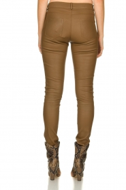 Arma |  Leather stretch pants | brown  | Picture 5