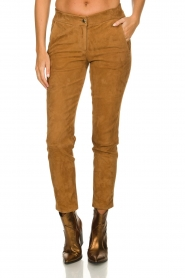 Arma : Suede pants Chinita | brown - img2
