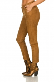 Arma : Suede pants Chinita | brown - img4