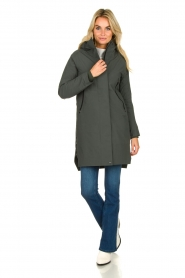 Krakatau |  Lined parka Urban chic | green  | Picture 4