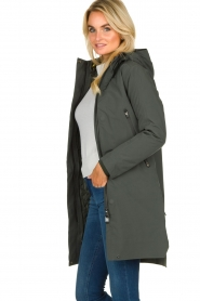 Krakatau |  Lined parka Urban chic | green  | Picture 5