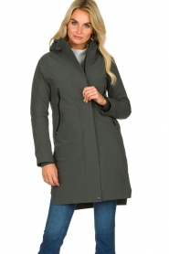 Krakatau |  Lined parka Urban chic | green  | Picture 2