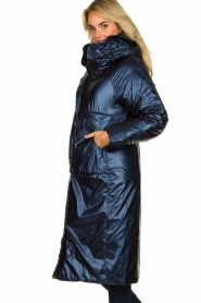 Krakatau |  Long padded coat Amery | blue  | Picture 5