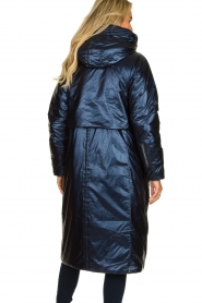 Krakatau |  Long padded coat Amery | blue  | Picture 6