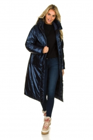Krakatau |  Long padded coat Amery | blue  | Picture 3