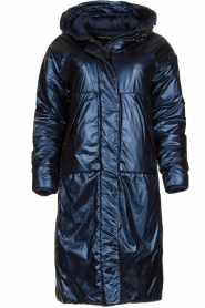 Krakatau |  Long padded coat Amery | blue  | Picture 1