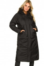 Krakatau |  Long padded coat Amery | black  | Picture 2