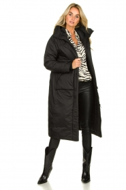 Krakatau |  Long padded coat Amery | black  | Picture 3