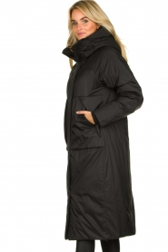 Krakatau |  Long padded coat Amery | black  | Picture 5
