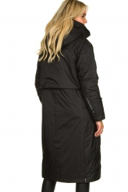 Krakatau |  Long padded coat Amery | black  | Picture 6