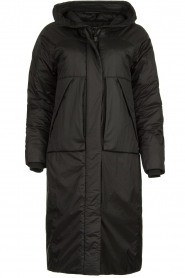 Krakatau |  Long padded coat Amery | black  | Picture 1