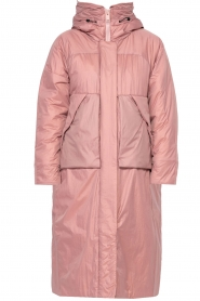 Krakatau |  Long padded coat Amery | pink  | Picture 1