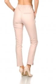 Est-Seven |  Leather stretch pants Butter | nude  | Picture 5
