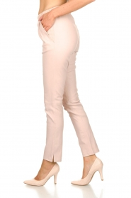 Est-Seven |  Leather stretch pants Butter | nude  | Picture 4