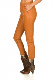 Est-Seven | Leather legging Amber | brown  | Picture 4