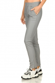 Est-Seven | Leather legging Amber | grey  | Picture 4