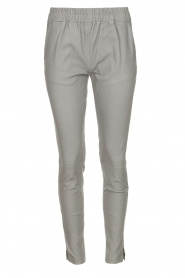 Est-Seven | Leather legging Amber | grey  | Picture 1