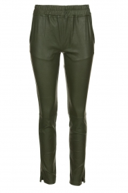 Est-Seven |  Leather legging  Amber | green  | Picture 1