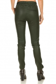 Est-Seven |  Leather legging  Amber | green  | Picture 6