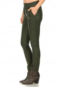 Est-Seven | Leren legging Amber | groen   | Afbeelding 5