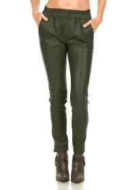 Est-Seven |  Leather legging  Amber | green  | Picture 4