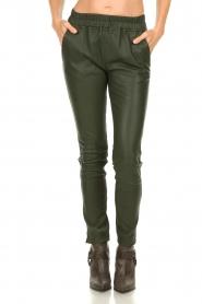 Est-Seven | Leren legging Amber | groen   | Afbeelding 4