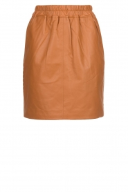Est-Seven | Leather skirt Mylenna | camel  | Picture 1