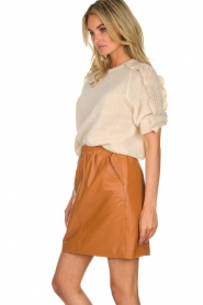 Est-Seven | Leather skirt Mylenna | camel  | Picture 4