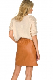 Est-Seven | Leather skirt Mylenna | camel  | Picture 5