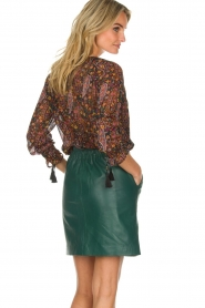 Est-Seven | Leather skirt Mylenna | green  | Picture 5